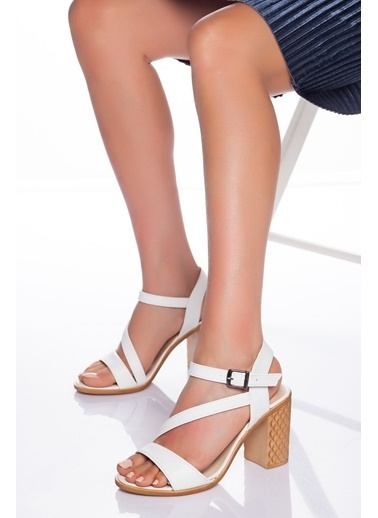 Derithy Derithy-Klasik Topuklu Ayakkabı-Mavi Süet Beyaz